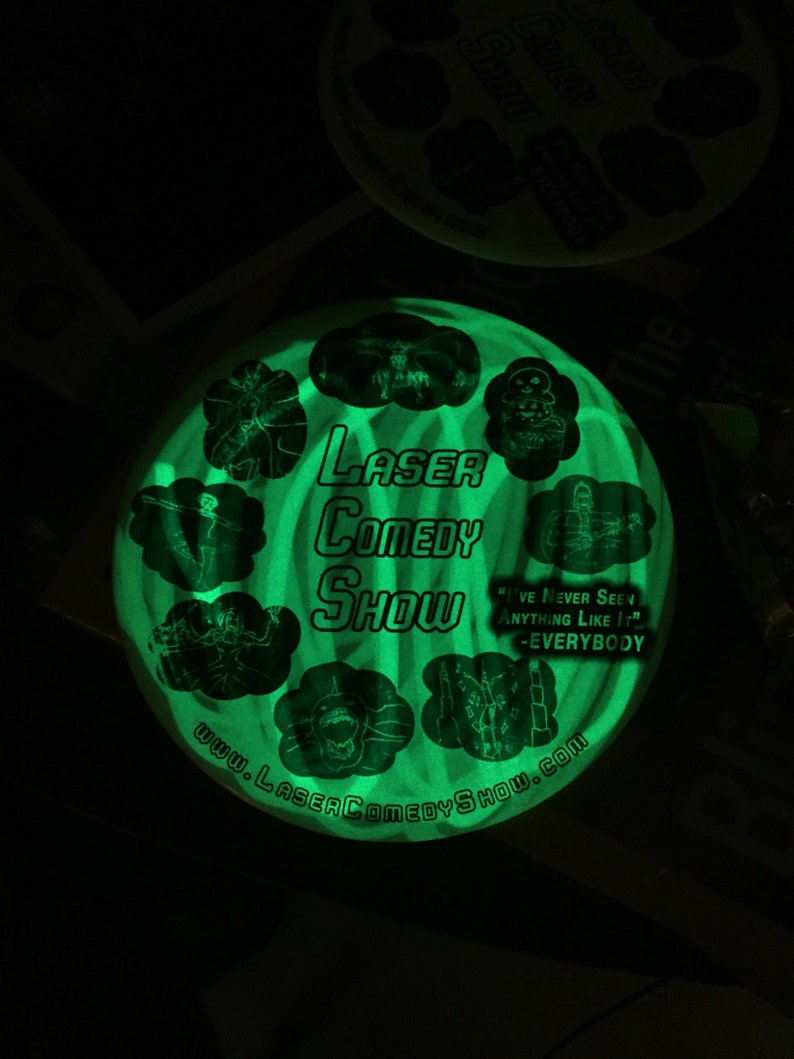 Laser Reactive Glow Button 6 inch. with The Laser Comedy Show image 0