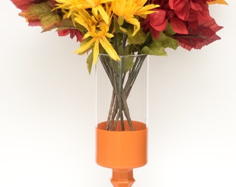 Burnt Orange Dipped Vase