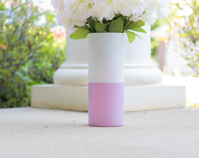 Lilac and White Vase