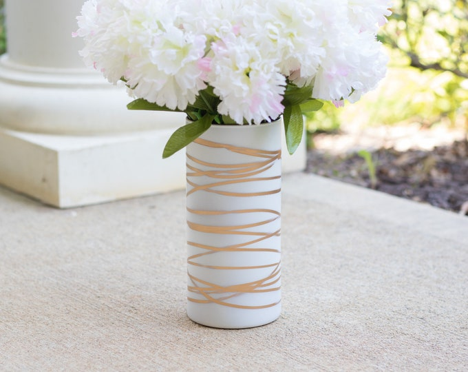 White and Gold Vase