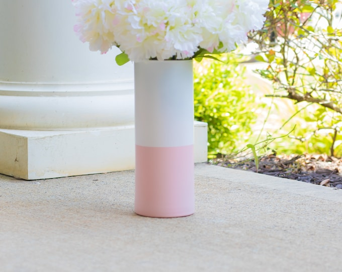 Pink and White Vase
