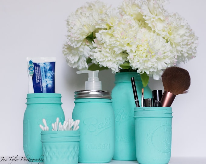 Turquoise Bathroom Set of 5