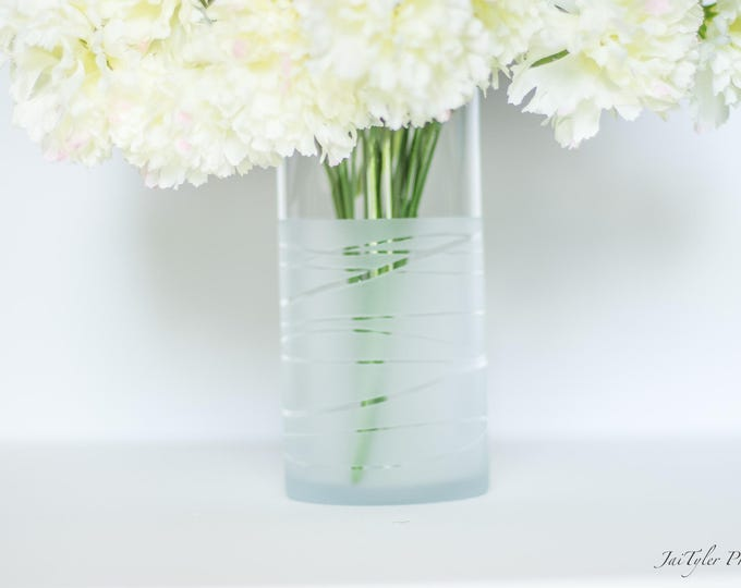 Frosted Vase
