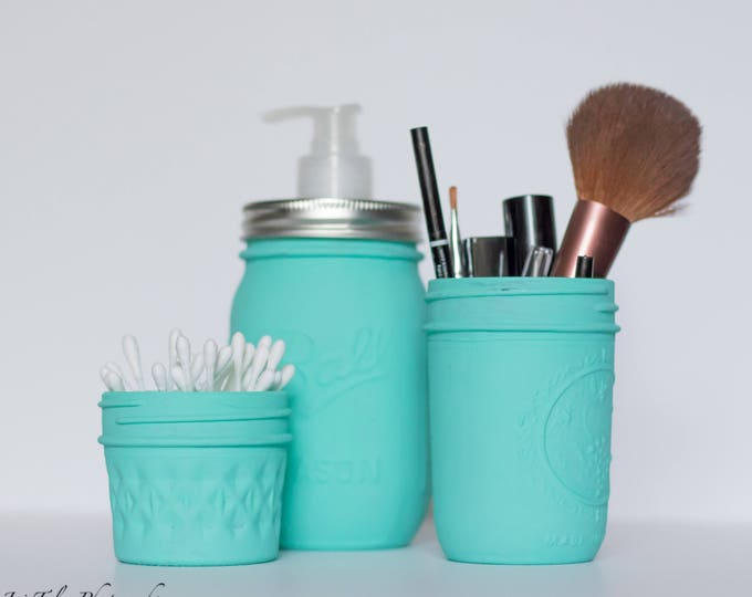 Turquoise Bathroom Set of 3