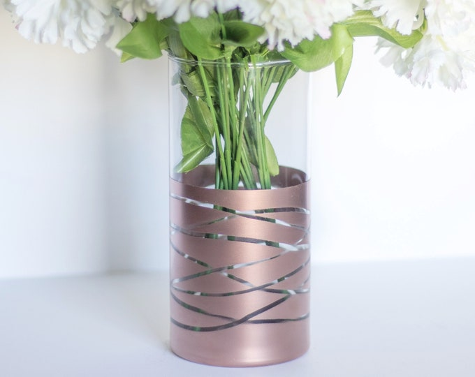 Rose Dipped Gold Vase