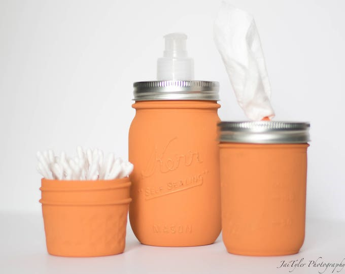 Burnt Orange Mason Jar Set of 3
