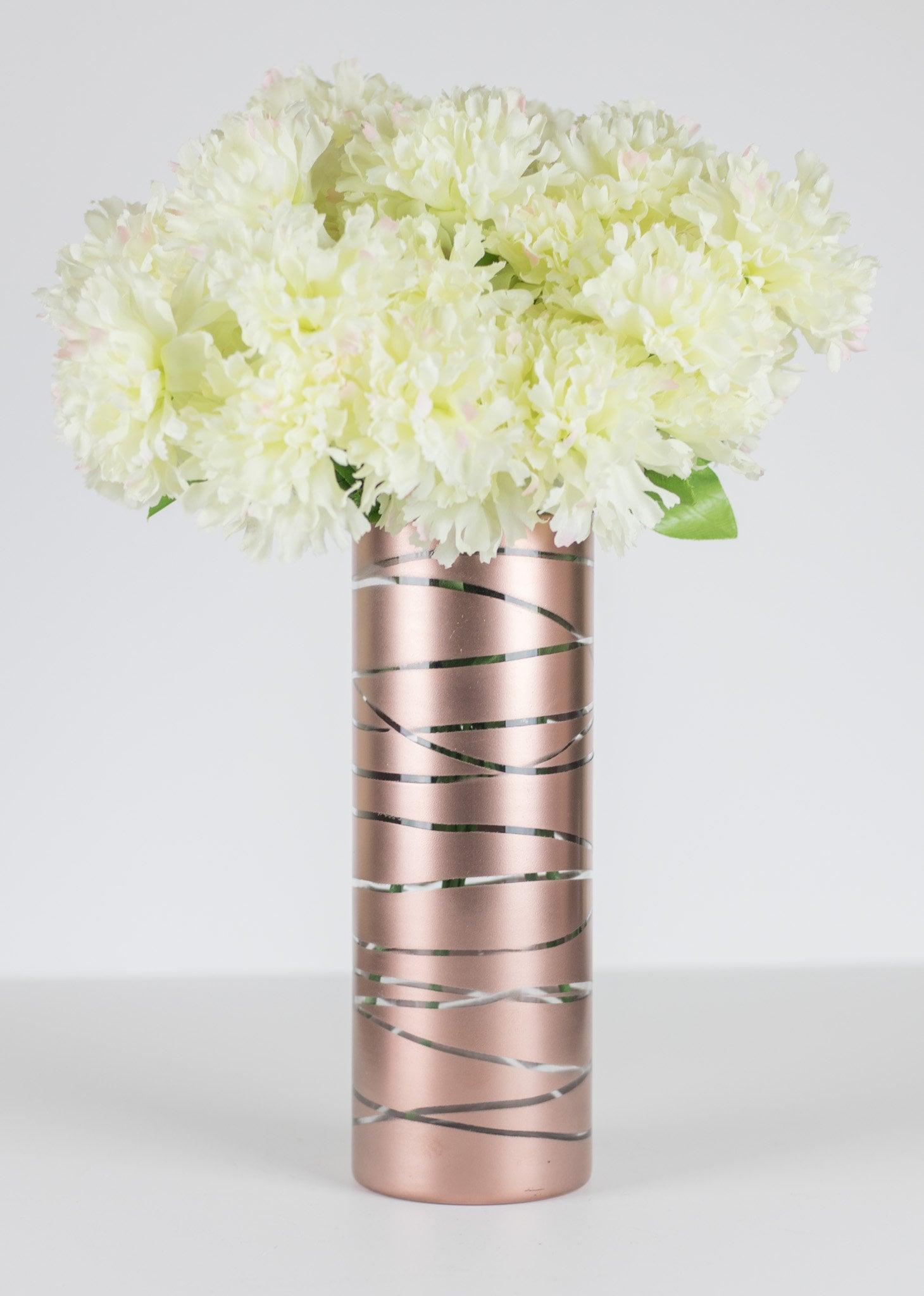 rose gold vase rose gold home decor rose gold centerpiece. Black Bedroom Furniture Sets. Home Design Ideas