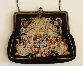Petit point evening bag ca. 1930