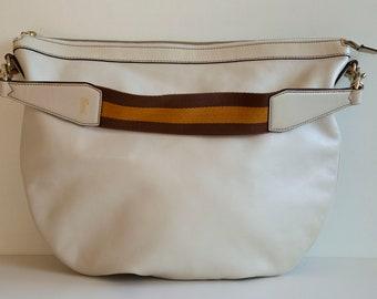e7964a252200 Vintage Gucci Shoulder Bag Hobo Bag in White Off Leather