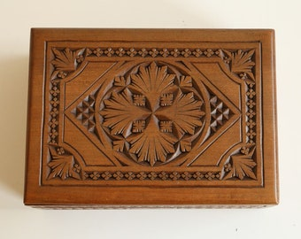 Chip carving box etsy