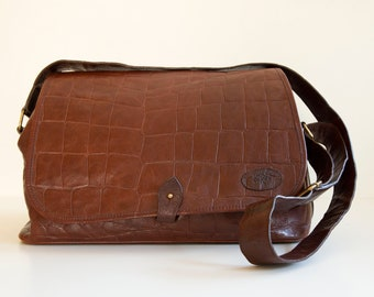 0399a14ad5 Vintage Mulberry Briefcase Mssenger Bag in Brown Congo Leather