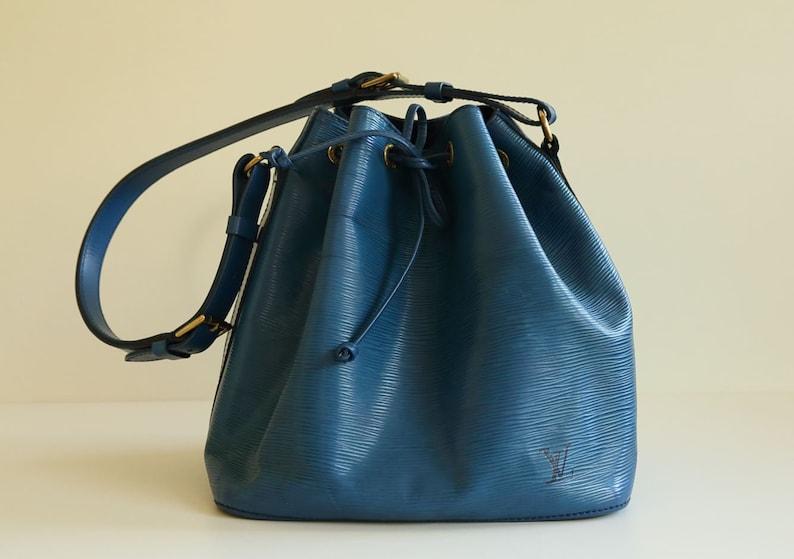 44e575af1803 Louis Vuitton Vintage Petit Noe Shoulder Bag in Blue Epi