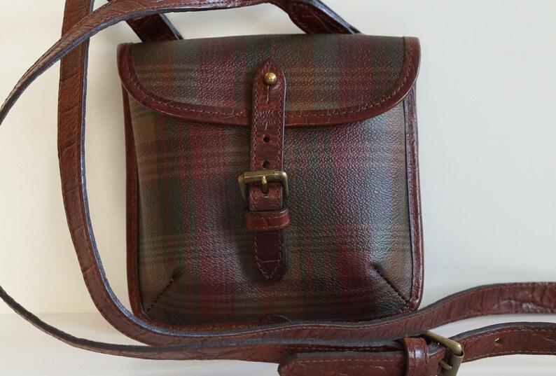 39939cfc41306 Vintage Mulberry Cross Body Bag Tartan Schotchgrain