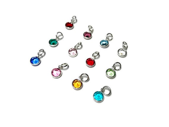 5d847a481bfd23 Swarovski Birthstone Charms 6mm Crystal Channel Charm