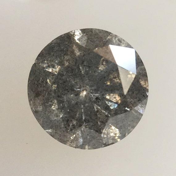 0,49 ct naturel naturel naturel taille rond brillant sel et poivre Diamond 4,98 x 3,20 mm ronde couleur gris Loose Diamonds, Natural Diamond lâche SJ34/23 07617c