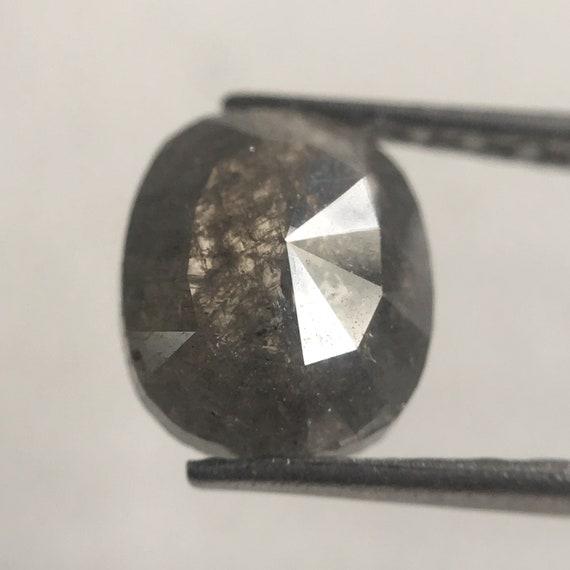 0,99 carat diamant lâche naturel ovale coupe 6,88 X X X 5,90 mm couleur gris fantaisie, ovale gris forme Rose Cut diamant lâche à facettes naturel SJ30/46 99fae2