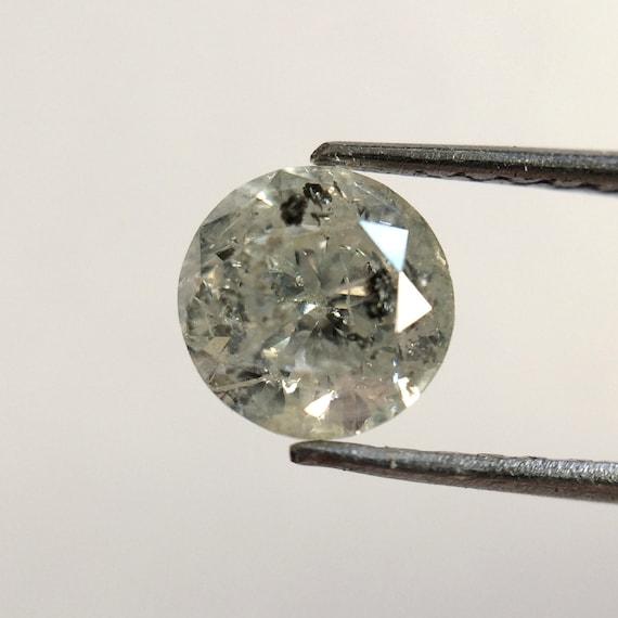 0,52 0,52 0,52 ct naturel gris fantaisie diamant 5,00 X 3,20 mm ronde couleur gris Loose Diamonds, diamant naturel brillant lâche diamant blanc 567d04
