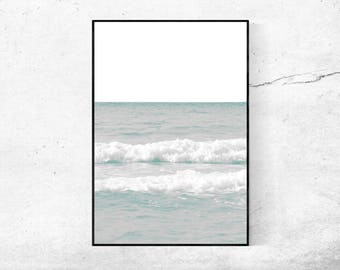 Ocean Sea sea water modern pressure minimalist poster photography art print gift present home wall Decor 45 x 30 cm + 60 x 40 cm