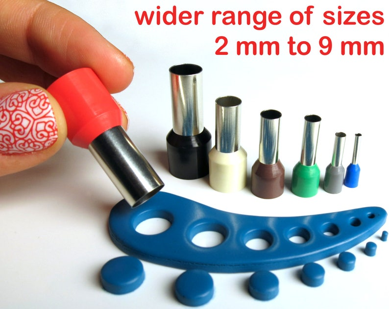 Polymer clay mini circle cutters set kemper style no seams  image 0