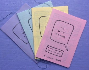 I'm (not) okay depression zine | positivity and mental health | self harm, eating disorder, anxiety, self care, self love
