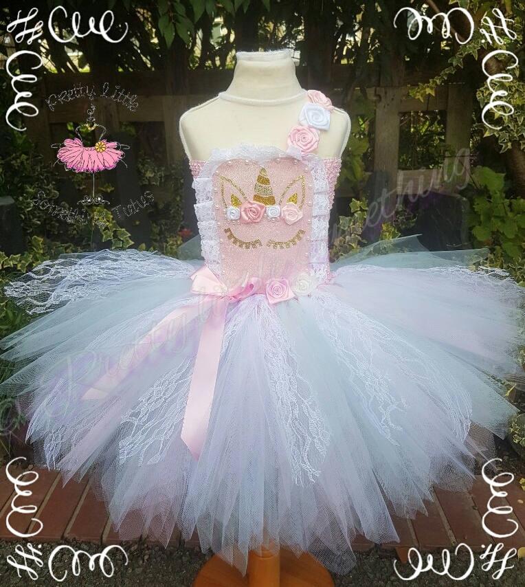 Einhorn Tutu Kleid rosa Spitze Tutu Einhorn-Party-Kleid   Etsy