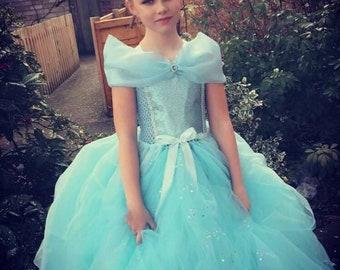 Blue princess tutu dress, blue ball gown, fairytale tutu dress, international seller