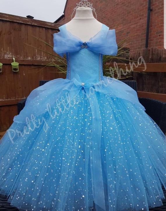 Luxury Sparkle Blue Princess Tutu Dress Blue Princess Pageant