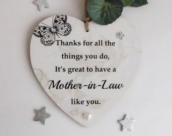 Mother In Law Thanks For All The Things You Do Its Great To Have A Like