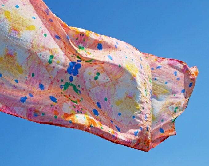 Kleurrijke sjaal van 100% biologisch katoen - Atelier Meesters