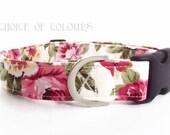 Floral Dog Collar Rose Dog Collar Girl Dog Collar Dog Collar Floral Dog Collar Small Dog Collar Big Dog Collar Puppy Collar