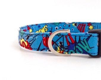 Superhero Dog Collar   Dog Collar   Boy Dog Collar   Large Dog Collar   Male Dog Collar   Small Dog Collar   Puppy Collar