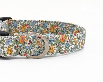 Liberty Floral Dog Collar | Liberty Fabric Dog Collar | Girl Dog Collar | Dog Collar | Floral Dog Collar UK | Small Dog Collar | Dog Lead