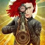 Black Widow teaser poster illustration A3 print
