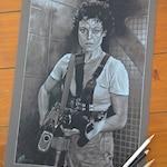 "Ripley - Sigourney Weaver - original pencil drawing A3 (11.7""x16.5"")"