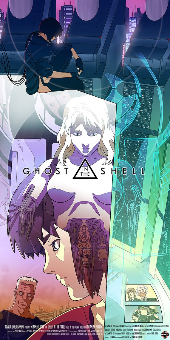 Ghost In The Shell 1995 Alternative Poster Illustration Etsy