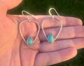 Handmade Amazonite earrings