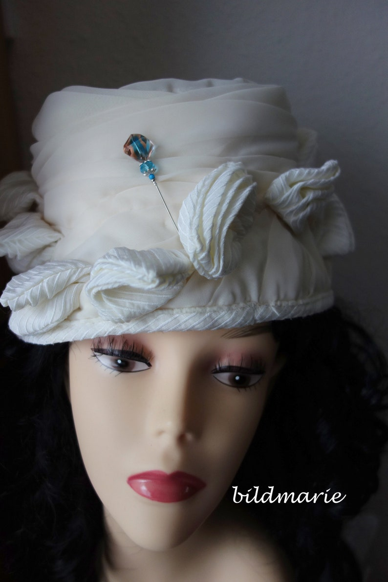 Old hat pin with new pearl *treasure* Ascot cloth needle Kentucky Derby hat jewelry head plaster for horse racing-