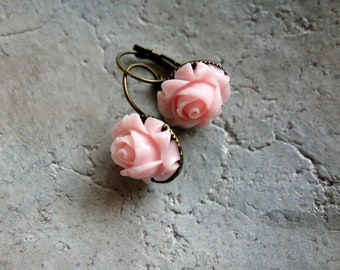 Pink Dream-earrings-pink rose-Summer jewelry for big and small people