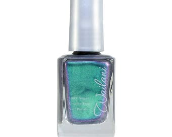 "Wailani Nail Polish - CRUELTY-FREE - 10-Free NONTOXIC - Vegan - ""Mermaid Scales"" - Beautiful color!  Wellness Gift - Most Popular Color!"