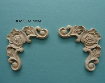 Decorative chic center applique onlay resin furniture moulding O20A