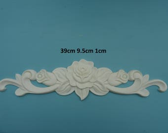 Decorative large rose corners and small rose corners applique resin onlay RCDS