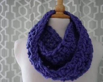 chunky scarf snood infinity scarf hand crafted crochet mixed aqua xmas gift