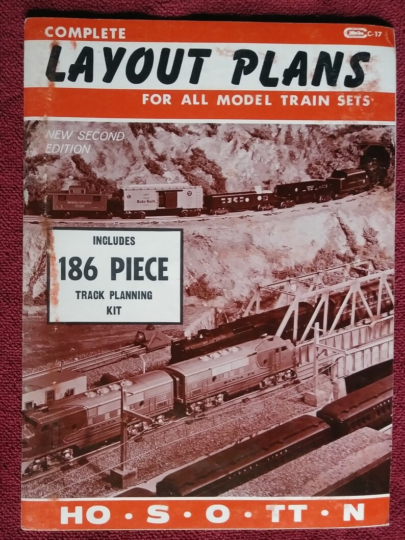 Complete Layout Plans For All Model Train Sets, By Harold H Carstens and  William Schopp, 1974