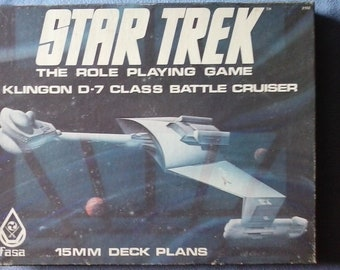 Star Trek Klingon D-7 Class Battle Cruiser 15MM Deck Plans