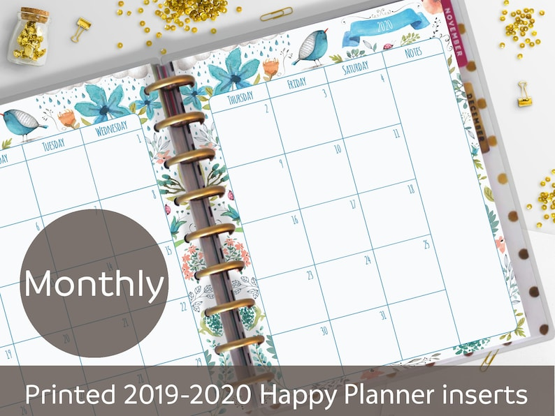photo regarding Cute Planner Refills named 2019-2020 Released Every month Clic Satisfied Planner Inserts, Month-to-month Planner Refill, 2019, 2020 Regular monthly, Adorable Planner Inserts, Posted Punched