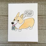 Get Well Soon Greeting Card, Feel Better, Cute puppy lover, corgi puppy dog, Watercolor, cancer, hand drawn, handmade, blank