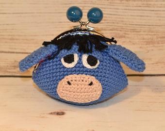 Eeyore wallet / purse crochet eeyore