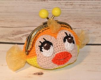 Cleo (fish in Pinocchio) purse / Cleo (fish from Pinocchio) crochet purse