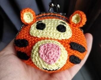 Tigger wallet / purse crochet Tigger