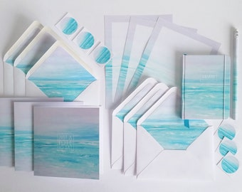 Handmade stationery gift sets, featuring my calming 'Blissful' design.